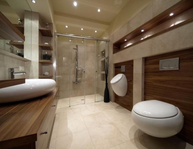 White Interior Design Drewno W łazience