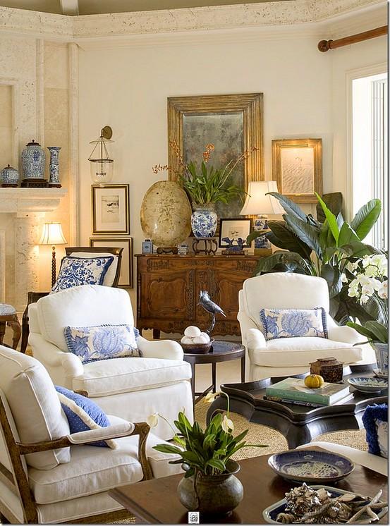Styl kolonialny czyli kolorowo i klasycznie white for Colonial living room design ideas