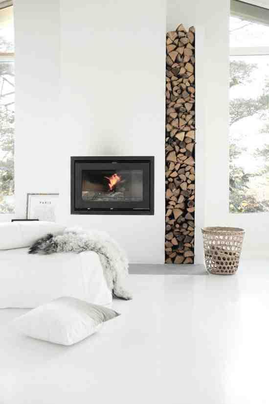 Pi kne kominki w skandynawskiej ods onie white interior design blog - Decoratie interieur bois ...